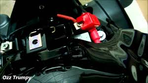 installing optimate 4 battery tender on triumph speed triple youtube