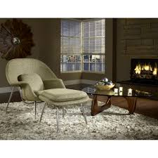 Living Room Chairs And Ottomans by Eero Saarinen Style Womb Chair Ottoman Set In Oatmeal Isamu