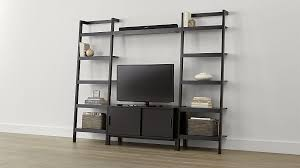 Crate And Barrel Desk by Sawyer Mocha Media Stand With Media Shelf And Two 24 5 U0027 U0027 Bookcases