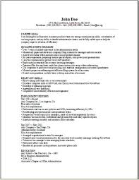 Executive Resumes Samples Free by Executive Assistant Resume Sample Occupational Examples Samples