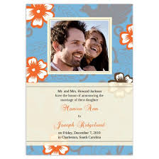wedding announcement cards hibiscus wedding announcement cards flat cards personalized cards