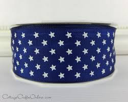 navy blue wired ribbon wired ribbon 1 1 2 bright navy blue with white