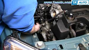 how to install replace serpentine belt tensioner chevy equinox 3 4