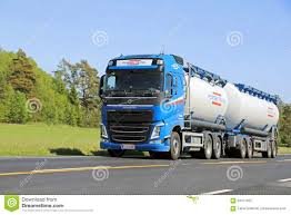 volvo big rig blue volvo truck full trailer stock photos images u0026 pictures