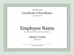 certificate or award of excellence template design helloalive