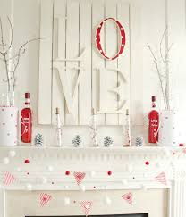 remarkable white home valentine day fireplace interior design