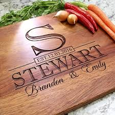 recipe engraved cutting board classic monogram wedding design personalized cutting board