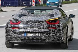 bmw i8 key spied 2018 bmw i8 spyder looks production ready automobile magazine