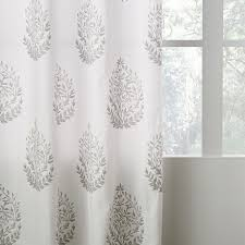 Curtains Printed Designs West Elm Medallion Shower Curtain Designs With Belgian