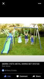 Flexible Flyer Backyard Swingin Fun Metal Swing Set Plum Meerkat Wooden Garden Swing Set With Swing 2 Seat Glider