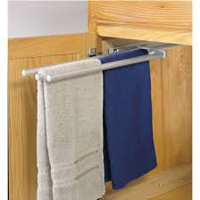 Hafele PullOut Towel Racks For Kitchen Or Vanity Cabinet - Kitchen cabinet towel rack