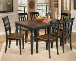 Black Dining Room Table And Chairs by Signature Design By Ashley Owingsville 7 Piece Rectangular Dining