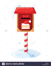 letters to santa mailbox santa s mailbox vector illustration of a letter for santa claus