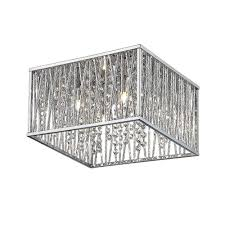 hd saynsberry 4 light chrome flush mount amazon com