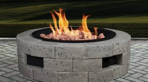 Contemporary Firepit Propane Outdoor Pit Kit Contemporary Grand Resort Gas With