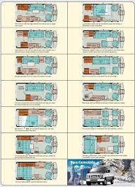 motor home floor plans valine class b motorhomes floor plans