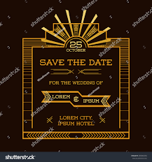 Invitation Card Save Date Wedding Invitation Card Art Stock Vector 203286340