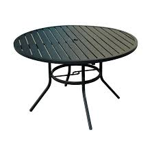 lowes table l set shop patio tables at lowes com within outdoor round dining table