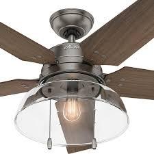 hunter crown canyon ceiling fan ceiling fan hunter white outdoor ceiling fan with light lights
