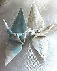 Origami Wedding Cake - wedding cake topper letters peace crane bird favor