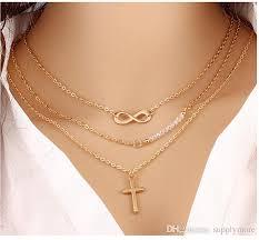 trendy necklace pendants images Wholesale women trendy necklaces fashion simple gold plated cross jpg