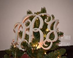 monogram tree topper monogram tree topper etsy