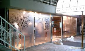 Decorative Window Decals For Home Dusted Frosted Etched Glass Retail Window Graphics By Printb3 The