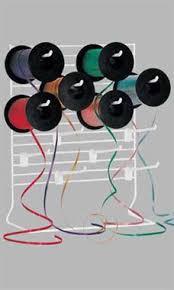 ribbon dispenser 12 w x 15 h white curling ribbon dispenser with 12 hooks