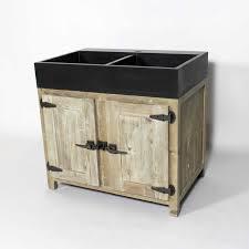 meuble cuisine bois recyclé meuble cuisine bois recyclé avec évier 2 bacs made in meubles