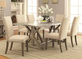 wood and metal dining table sets coaster furniture 105571 105572 7 pc dining set