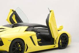 yellow lamborghini autoart highly detailed die cast model yellow lamborghini