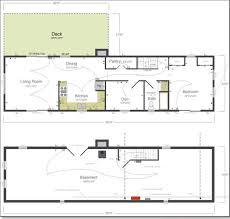 Ranch House Floor Plans With Basement Interior Basement House Plans Within Admirable Decor Remarkable