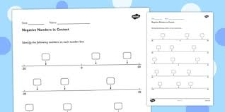 using negative numbers in context activity sheet 1 ks2 uks2