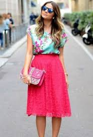 skirt and blouse 20 lace skirt ideas for this season styleoholic