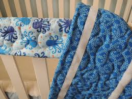 pattern super simple crib rail cover velcro fastened style