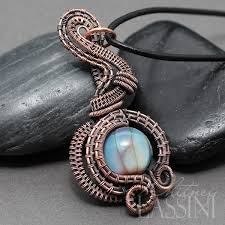 copper jewelry necklace images Pendulum style woven copper wire pendant whitney lassini art jpg