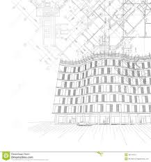 architectural building plans architectural background with building and plans stock photos