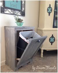 tips inside cabinet trash can wood trash can holder tilt out