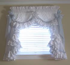 Burlap Ruffle Curtain Saturday Knight Sarah Ruffled Priscilla Curtain Window Melody