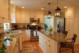 decoration luxury kitchen decorating ideas wooden varnished full size kitchen fantastic decorating ideas white island beige granite countertop brown