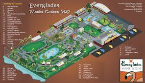 Florida Everglades Map by Map Everglades Wonder Gardens