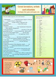 82 free esl science worksheets