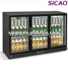 small beer fridge glass door 2 glass door black color water beer soft drinks commercial