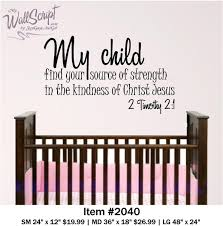 wall decal source etsy nursery bible verse wall art child find your source strength the kindness