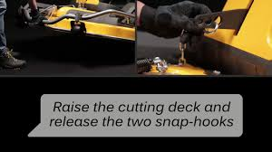 park pro front cut ride on how to remove the cutting deck