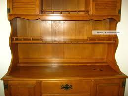 Ethan Allen Corner Desk by Vintage Ethan Allen Maple Wood Hutch Cupboard Cabinet Buffet
