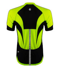 yellow cycling jacket high vis reflective cycling jersey made for visibility and