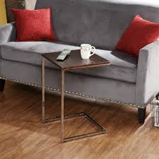 modern c coffee table tv tray with metal stand and wooden top ideas