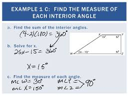 The Sum Of Interior Angles Then You Name And Classified Polygons Now 1 Find And Use The Sum