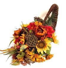 cornucopia arrangements fall silk floral sunflower horn of plenty cornucopia arrangement